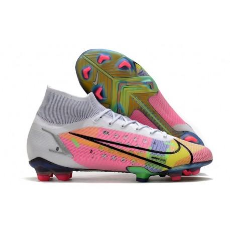Botas de fútbol Nike Mercurial Superfly VIII Elite FG Blanco Rosa