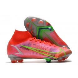 Botas de fútbol Nike Mercurial Superfly VIII Elite FG Rojo Plata