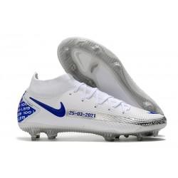Nike Zapatos Nuevo Phantom GT Elite DF FG Blanco Azul