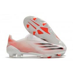 Botas de Fútbol adidas X Ghosted + FG Blanco Rojo Negro
