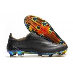 Botas de Fútbol adidas X Ghosted + FG Negro Azul
