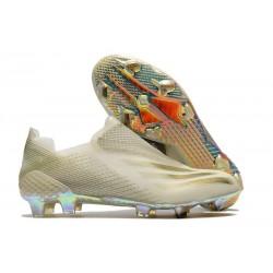 Botas de Fútbol adidas X Ghosted + FG Blanco Oro