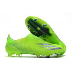 Botas de Fútbol adidas X Ghosted + FG Verde Tinta Energía