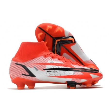 Nike Mercurial Superfly VIII Elite FG Chile Rojo Negro Blanco Naranja