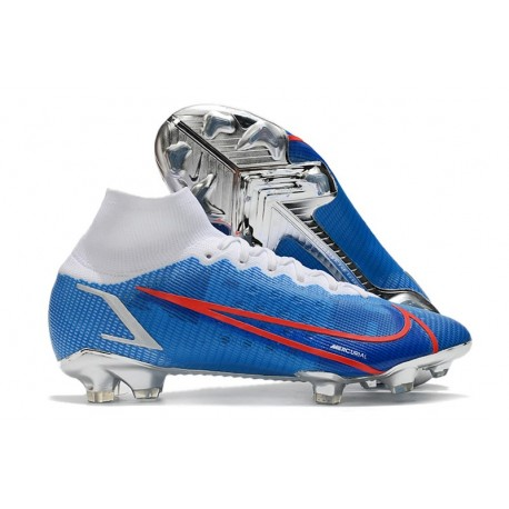 Botas de fútbol Nike Mercurial Superfly VIII Elite FG Azul Blanco Rojo