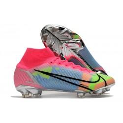 Botas de fútbol Nike Mercurial Superfly VIII Elite FG Rojo Azul Amarillo