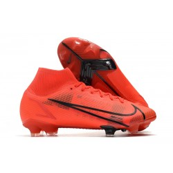 Botas de fútbol Nike Mercurial Superfly VIII Elite FG Rojo Negro