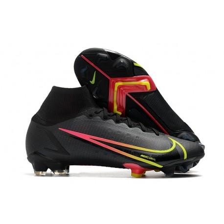 Nike Zapatillas Mercurial Superfly 8 Elite FG Negro Rojo