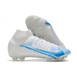 Nike Zapatillas Mercurial Superfly 8 Elite FG Blanco Azul