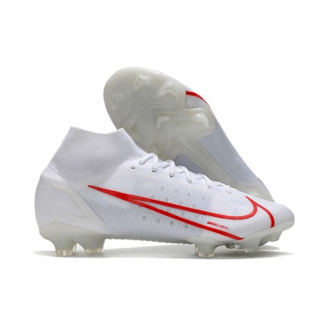 Nike Zapatillas Mercurial Superfly 8 Elite FG Blanco Rojo