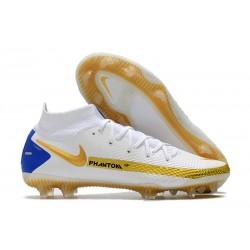 Nike Zapatos Nuevo Phantom GT Elite DF FG Blanco Oro Azul