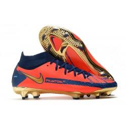 Nike Zapatos Nuevo Phantom GT Elite DF FG Naranja Azul Oro