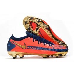 Bota de Futbol Nike Phantom GT Elite FG Naranja Oro Azul