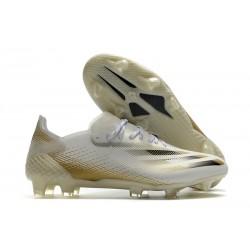 adidas X Ghosted.1 FG Blanco Negro Dorado Metalizado Jaspeado