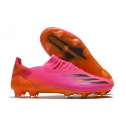 adidas X Ghosted.1 FG Zapatillas de fútbol Hombre Rosa Negro Naranja