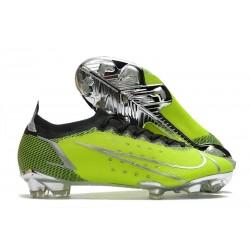 Nike Bota Mercurial Vapor 14 Elite FG Verde Negro Plata