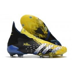 Zapatillas adidas Predator Freak+ FG Amarillo Fluor Plateado Metálico Negro