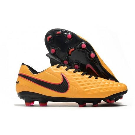 Nike Tiempo Legend VIII Elite FG Botas Naranja Negro