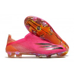 Botas de Fútbol adidas X Ghosted + FG Rosa Negro Naranja