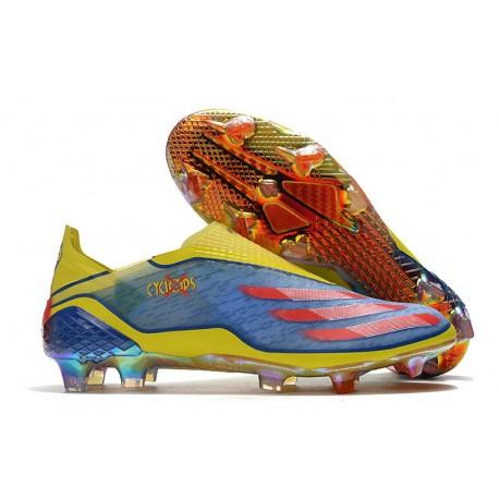 Botas de Fútbol adidas X Ghosted + FG X-Men Azul Rojo Amarillo Fluor