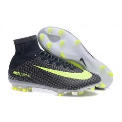 Nuevos Nike Mercurial Superfly V FG Zapatillas de Fútbol Negro Verde