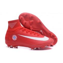 Nuevos Nike Mercurial Superfly V FG Zapatillas de Fútbol Bayern München Rojo