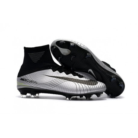 dd3ee27f93979 Nike Zapato de futbol Mercurial Superfly 5 Dynamic Fit FG - Metal Negro