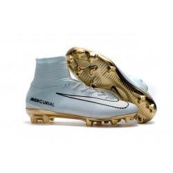 Nike Zapato de futbol Mercurial Superfly CR7 Vitórias - Blanco Oro