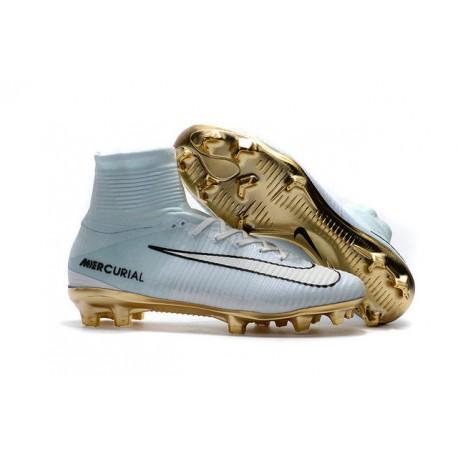 Nike Zapato de futbol Mercurial Superfly CR7 Vitórias - Blanco Oro 8199c6ba284bd