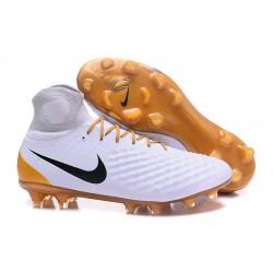 Nike Magista Obra 2 FG Zapatos de Futbol - Blanco Oro