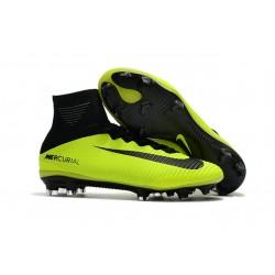 Nike Mercurial Superfly V FG Botas de Fútbol Hombres - Verde Negro