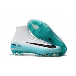 Nike Mercurial Superfly V DF FG Zapatillas de Fútbol - Blanco Azul