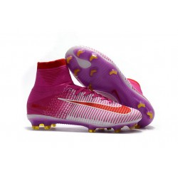 Nike Mercurial Superfly V Dynamic Fit FG Tacos de futbol - Rojo Blanco