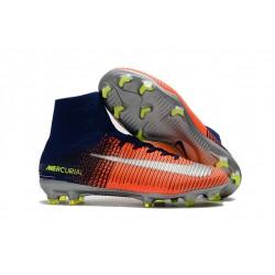Nike Botas de fútbol Mercurial Superfly 5 DF FG ACC - Azul Cromo Carmesi