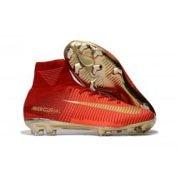Nuevo Zapatos de Fútbol Nike Mercurial Superfly V DF FG - Rojo Oro