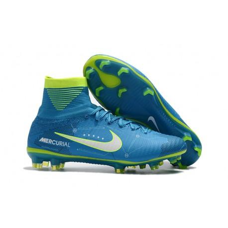 Neymar Zapatillas de Fútbol Nike Mercurial Superfly V DF FG Azul