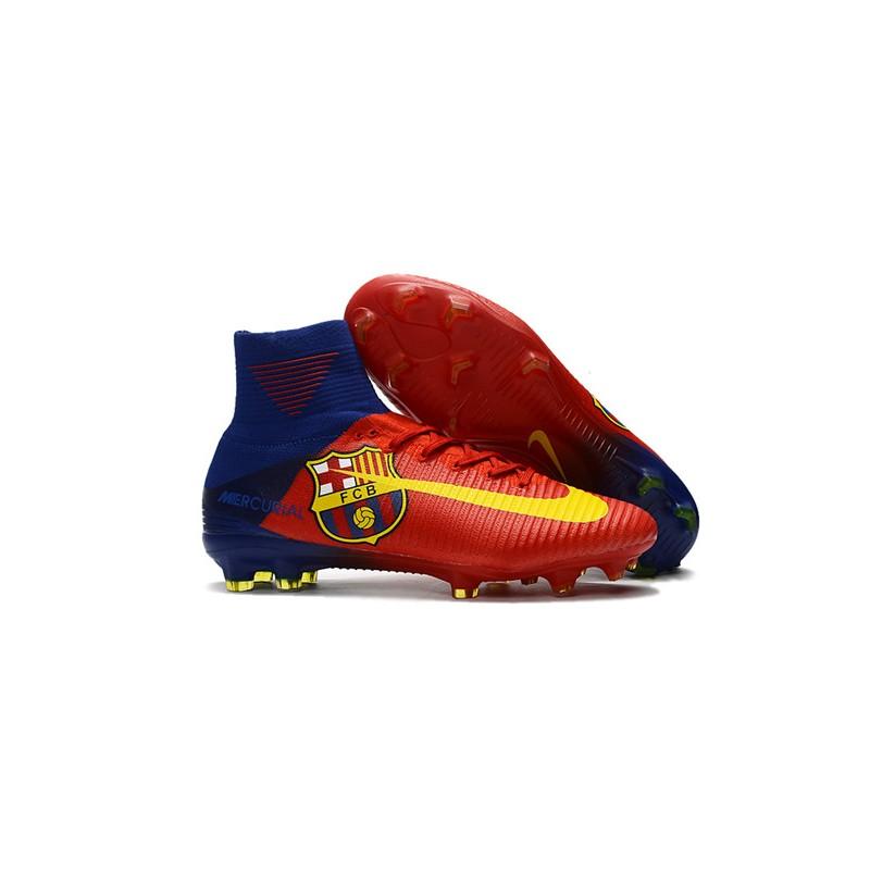 80ca6f3f41f9a Nike Mercurial Superfly 5 DF FG Tacos de Fútbol -Barcelona Rojo Amarillo