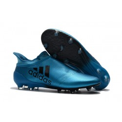 Bota de Fútbol adidas X 17+ Purespeed FG - Azul