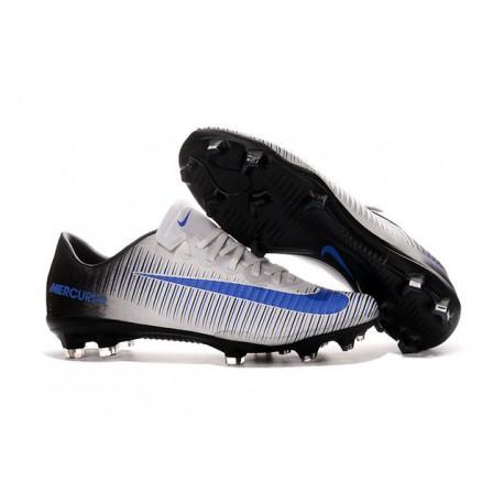 Nike Mercurial Vapor XI FG Hombres Botas De Fútbol Blanco Azul