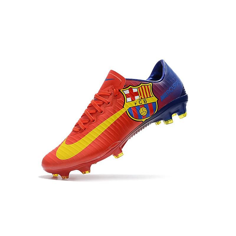 Barcelona Vapor Fg Fc De Nike Botas Mercurial Xi Tacos Rojo Nnv80wmyO