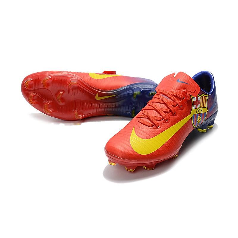 competitive price 383e3 4bd29 Tacos de Botas Nike Mercurial Vapor XI FG FC Barcelona Rojo