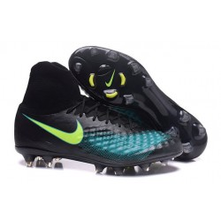 Nike Nuevo Botas de Futbol Magista Obra 2 FG - Negro Azul
