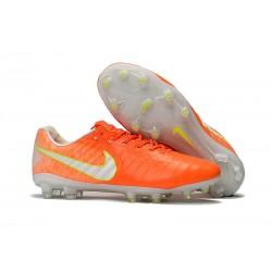 Nuevo Botas de Fútbol Nike Tiempo Legend 7 FG - Naranja Blanco