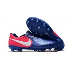 Nike Tiempo Legend VII FG ACC Zapatos de Futbol - Azul Rosa