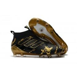 Bota de Fubol adidas Ace 17 + Purecontrol FG - Paul Pogba Capsule Negro Oro