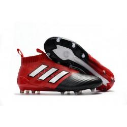 Bota de Fubol adidas Ace 17 + Purecontrol FG - Rojo Negro