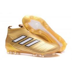 Bota de Fubol adidas Ace 17 + Purecontrol FG - Oro Blanco