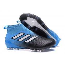 Bota de Fubol adidas Ace 17 + Purecontrol FG - Negro Blu
