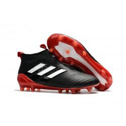 adidas Ace 17 + Purecontrol FG Zapatos de futbol Negro Rojo
