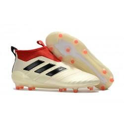 Zapatillas adidas de Futbol Ace 17 + Purecontrol FG - Blanco Rojo Negro